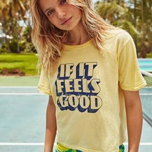 If it feels good boxy tee.
